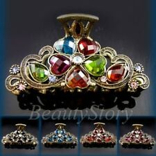 ADD'L Item FREE Shipping - Rhinestone Crystal Antiqued Hair Claw Clip