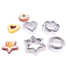1Set/3Pcs Stainless Steel Cookie Cutter Biscuit Pastry Mold Cake Fondant Fashion