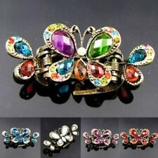 ADD'L Item FREE Shipping - Rhinestone Antiqued Butterfly Crab Hair Claw Clip