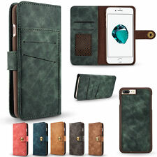 High Quality Removable Leather Magnetic Flip Wallet Case Cover For iPhone 7 Plus