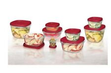 Rubbermaid Food Storage Set Piece Container Easy Find Lids Lid Plastic New Red