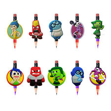 100PCS Inside Out PVC lovely Pencil Topper Pen Accessories DIY kids party gift