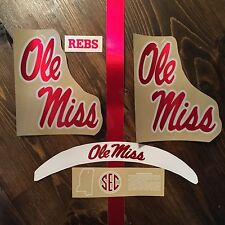 Ole Miss Mississippi Rebels CHROME Football Helmet Decal Set NCAA AUTHENTIC SEC