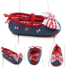 Baby Girl Mary Jane Infant Toddler Bowknot Cute Soft Sole Crib Shoes Prewalker