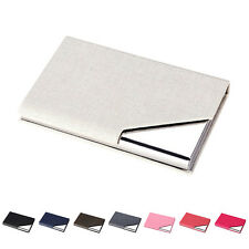 Men Wallet Business Stainless Steel Name Credit ID Card Holder Pocket Case FJ