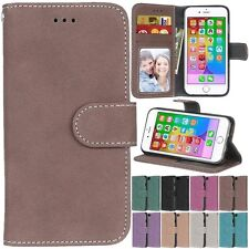 Flip Leather Retro Wallet Cards KickStand Magnetic Case Cover For Apple iPhone