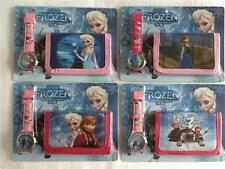 DISNEY FROZEN Anna Elsa Olaf Wallet and Watch Set - 4 Choices