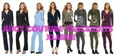 NWT Juicy Couture Velour Tracksuit Embellished Jacket Jogger or Bootcut Pants XL