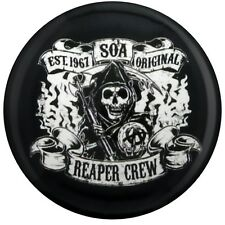 Sons of Anarchy Reaper Crew Black SoA Badge