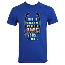 This Is What The Worlds Greatest Grandad Looks Like Men's Blue T-shirt