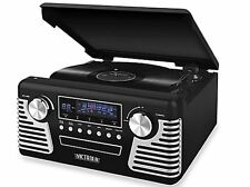 Victrola Vintage Style Retro Portable Record Player Stereo Turntable Black orRed