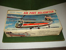 1960's AIR PORT HELICOPTER IN BOX, BATTERY OPERATED  JAPAN MADE PIECE, WORKS.