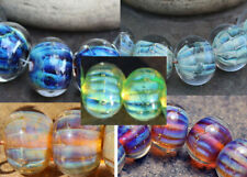 Ofira -  Handmade Glass Lampwork Round Beads - elasia SRA MTO - Choose color!