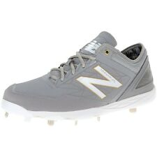 New Balance Men Athletic Shoes Minimus Low Baseball Metal Cleat Gray