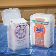 NEW ~ Flour or Sugar Container Bag Storage Keeper Holder Snap Lid