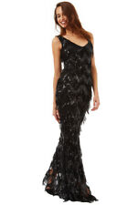 GODDIVA NAVY BLUE SEQUIN FLAPPER PROM MAXI WEDDING PARTY DRESS 8-14(WAS £149)
