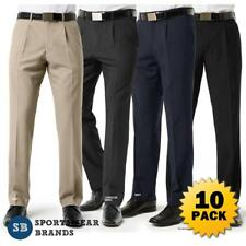 10 x Mens Single Pleat Pants Classic Trouser Work Business Corporate New BS29110