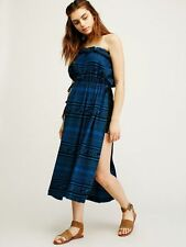Free People New Romantics Blue Black Aztec Madagascar Tunic Top Dress Cover-Up