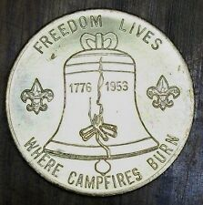 1953 Boy Scout of America National Jamboree Token Coin Freedom Lives Circle B