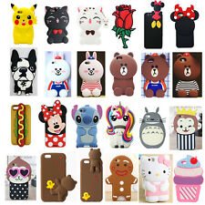 Newest 3D Lovely Animal Cartoon Soft Silicone Case Cover Back Skin For iPhone
