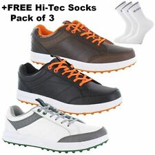 2016 Hi-Tec HT Combi Sneaker Leather Mens Spikeless Golf Shoes - Water Resistant