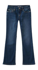 aeropostale kids ps girls' dark wash core bootcut jean plus blue