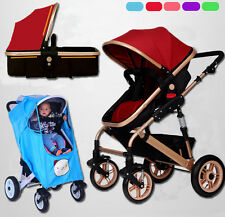 Newborn Child Baby Foldable Travel Stroller Pram Jogger Buggy Or Rain Cover