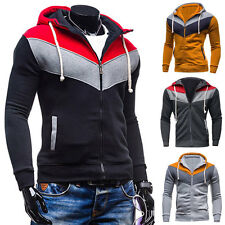 Men's Fashion Slim Sweatshirt Longsleeve Casual Coat Zip Hoodies Jacket Outwear