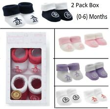 2 PACK ORIGINAL PENGUIN BABY INFANTS COTTON SOCKS BOOTIES GIFT BOX (0-6 MONTHS)