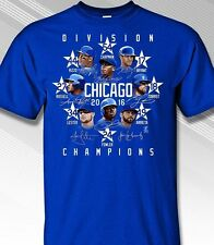 CHICAGO CUBS 2016 National League CENTRAL DIVISION CHAMPS ADULT T-SHIRT - STARS