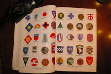 Rare 1943 WW2 Patches Badges Ranks Insignia Book Army USMC Navy Air Corps Force!