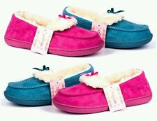 Ladies Jyoti Luxury Faux Fur Lined Moccasin Slippers. Womens Outdoor Sole
