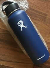 Hydro Flask Insulated Stainless Steel Wide Mouth Flex Cap Water Bottle 40oz Blue