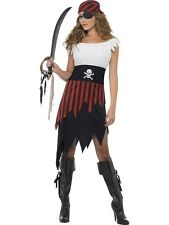 Ladies Caribbean Pirate Wench Adult Fancy Dress Hen Night Costume Party Outfit