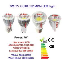 MR16/GU10 5W/7W/9W COB LED Spot Light Lamp Bulb High Power Energy Saving UF N7W9