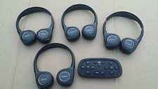 Cadillac Escalade Wireless Headphones Blue Ray DVD Remote KIT OEM 23140631
