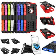 Hybrid ARMOR SHOCKPROOF STAND RUGGED SOFT+HARD Case Cover For iPhone iPod Touch