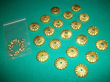 Vintage Antique Style Billiard Pool Table Dress Rosettes for Apron Bolt Heads