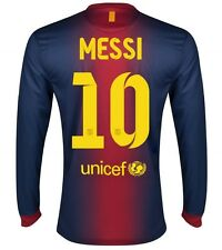 NIKE FC BARCELONA 'MESSI 10' 2012-2013 HOME LS SOCCER JERSEY (MIDNIGHT NAVY/STOR