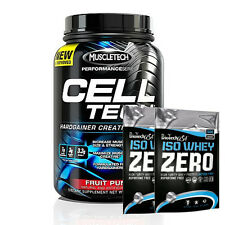 MUSCLETECH CELL TECH 1.4kg PERFORMANCE SERIES  HARDGAINER CREATINE + 2 SAMPLES