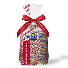Ghirardelli Milk Chocolate Candy Peppermint Bark SQUARES Gift Bag - 80 pc 2+ lbs