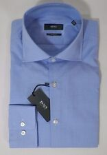 HUGO BOSS MILES US BLACK LABEL DRESS SHIRT SHARP FIT BLUE - NWT