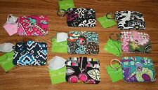NWT Vera Bradley IN A SNAP CARD CASE ID holder key ring 4 cash credit cards HTF