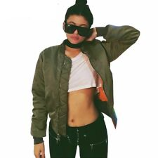 Women Winter Parkas Army Green Bomber Jacket Coat Jacket