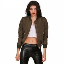 Winter Cool Basic Bomber Jacket Women Army Green Down Jacket Coat