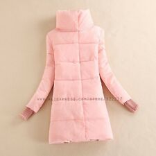 Women Cotton-padded Jacket Medium-long Wadded Slim Outerwear Winter Coat