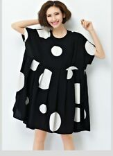 Women Chiffon Polka Dot Clothing Loose Big Size Female Casual Dress