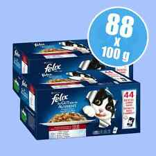 Felix As Good As It Looks Pouches In Jelly Wet Cat Food Mega Pack 88 x 100g