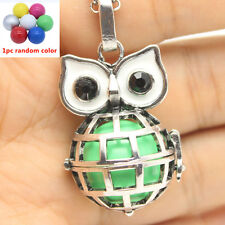 Harmony Chime Ball Bell Pendant Essential Oil Diffuser Owl Cage Locket Necklace