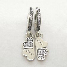Authentic Genuine Sterling Silver Best Friends Forever Dangle CHARM Bead